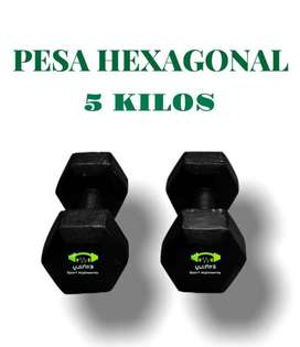 Pesas hexagonales