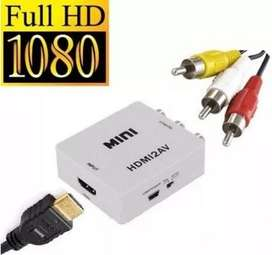 Convertidor Adaptador Hdmi A Av Rca 1080p Full Hd Video