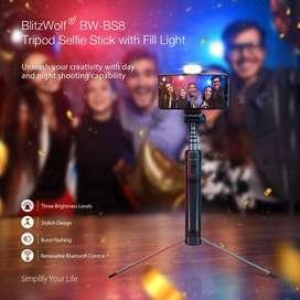 Palo Selfie Trípode Blitzwolf Bs8 Original Android Ios