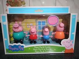 Peppa Pig Pack Familia Peppa Papá  cerdito Mamá  cerdita, Peppa , George