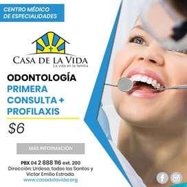 Odontología: primera consulta + limpieza dental