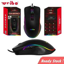 Mouse Gamer 7 Botones Con Luces Led Weibo S320