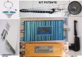 Kit Potente Amplificador Señal Celular 3g Claro Movistar 850mhz rural urbana fincas900