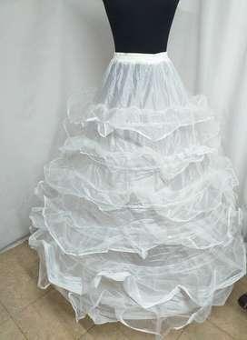 Enagua Can Can crinolina 120para vestido de novia y de fiesta 6 aros