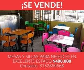 Se vende mesas y sillas para negocio