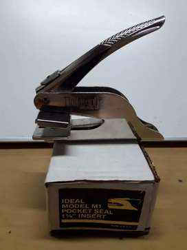 Pinsa para prensar.sellos secos de alto relieve