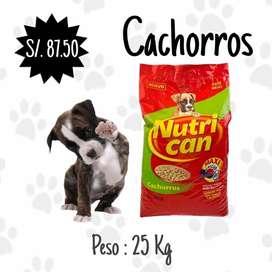 Nutrican cachorros x 25 kg