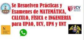 Servicio de Asesoria en resolución de ejercicios, problemas , laboratorios de Matemática, Física, Calculo, Ing. Económic
