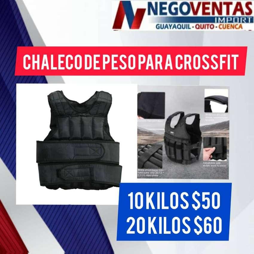 CHALECO CON PESA PARA CROSSFIT DE 10KG Y 20KG