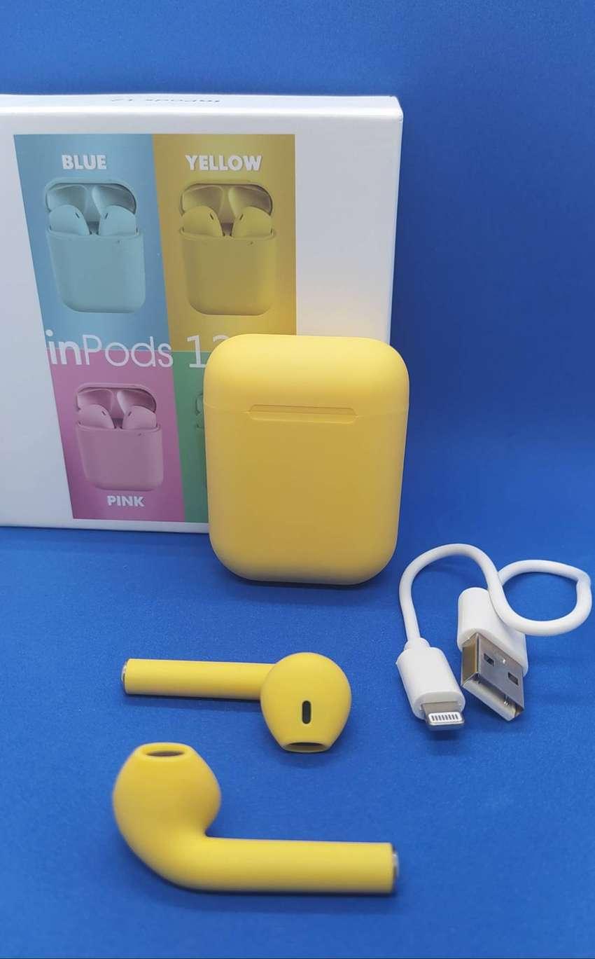 Audífonos I12 Táctil Inalámbricos Tipo AirPods Bluetooth 5.0.