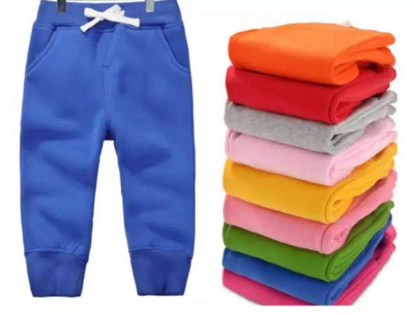 Pantalones De Polar; Franela; French Terry Para Niños. 0
