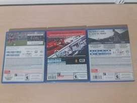 set de 3 juegos de PS4 DRIVECLUB y FIFA 16 y 18