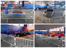 Alquiler de vallas metalicas paravalanchas free standing mallas perimetricas tribunas alfombras