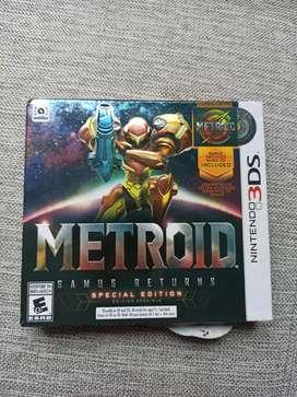 Metroid edición delux 3ds usado, estado 10/10