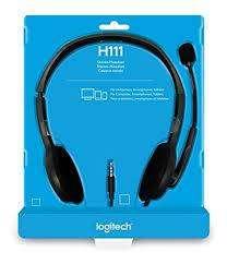Diadema Logitech H111 1plug Pc Ps4 Xbox One Switch Microfono DISTRIBUIDOR DE TECNOLOGIA