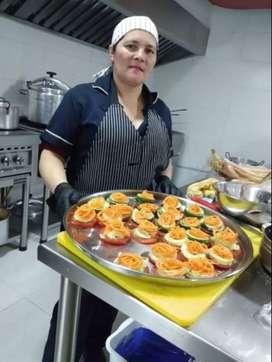Busco empleo como cocinera