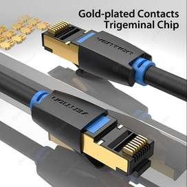 Cable Ethernet LAN Cat8 Alta Velocidad  40 gbps 2000 mhz Stp Rj4 2 METROS