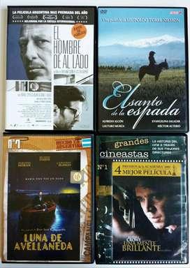 ORIGINALES - Lote 4 DVD  - CDJESS hombre de al lado santo la espada Luna de Avellaneda Una mente brillante