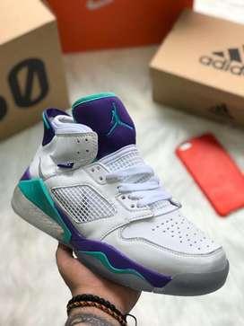 Botas Nike Jordan Retro Blanco Morado Turquesa Envio Gratis
