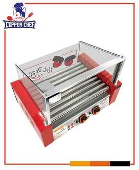 Calentador De Hot Dogs, Tostador De Hot Dogs, Vitrina De Perritos Calientes, Máquina De Hot Dogs Salchichas 9 Rodillos
