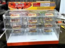 Exhibidores mini contenedores en acrílico para frutos secos, semillas