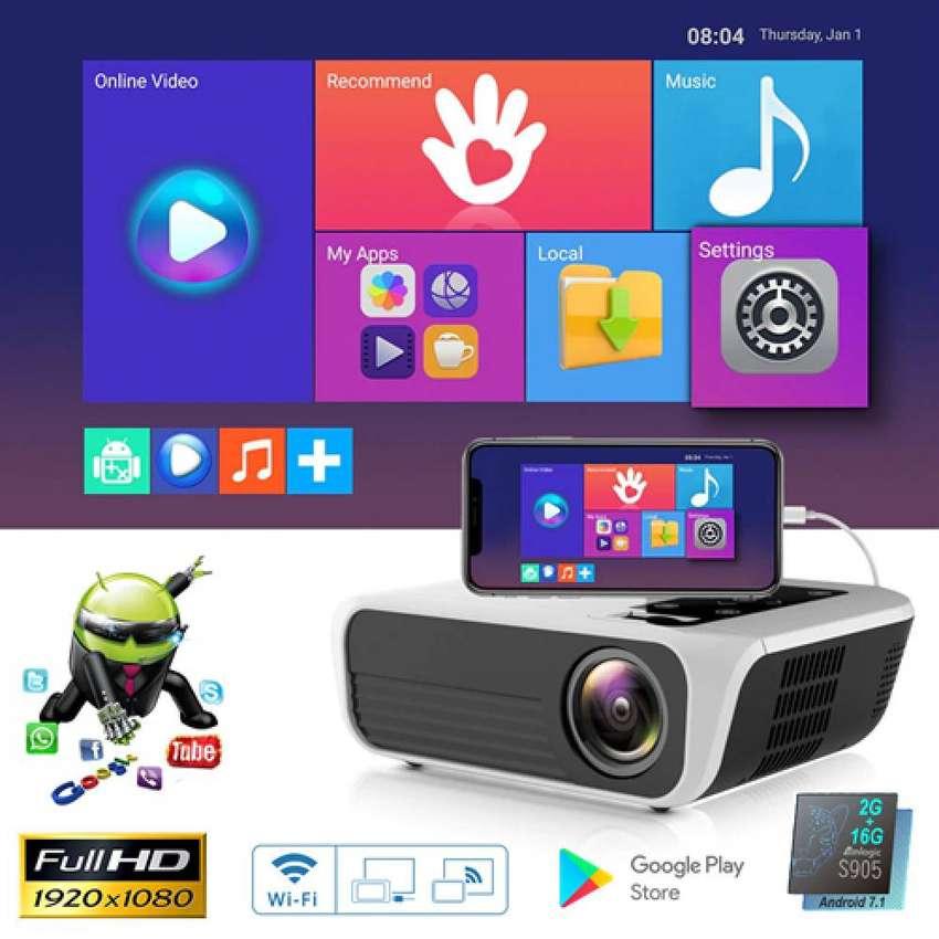 Proyector Video Beam 4500 lumenes LED FullHD 1080p Nativo Portable Ultra Liviano Foto Real - 0555