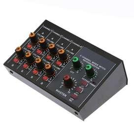 Mini Amplificado Y Mezclador De Microfonos - Mixer 8 Canales