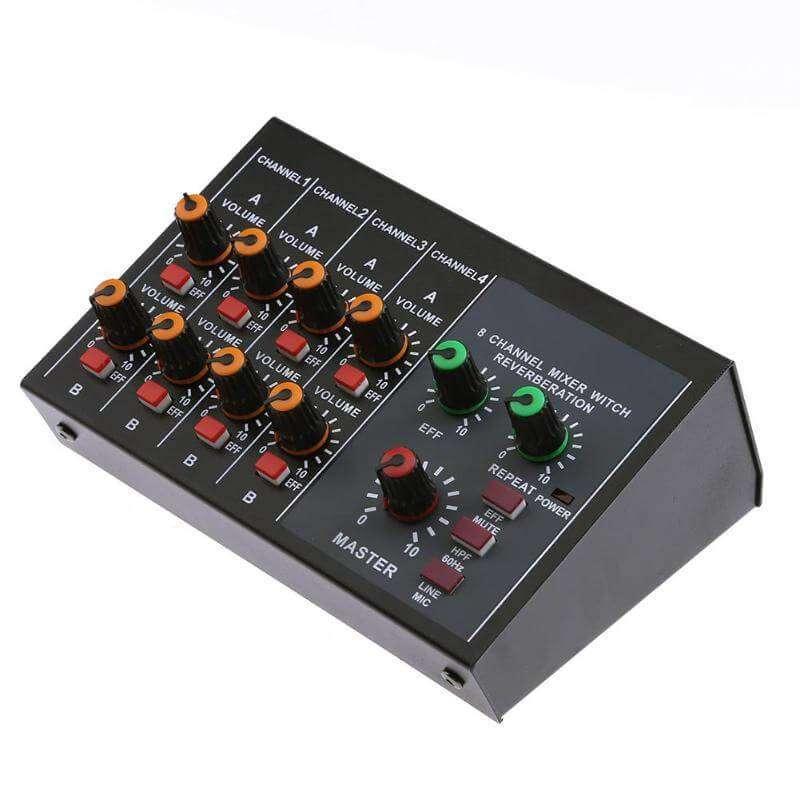 Mini Amplificado Y Mezclador De Microfonos - Mixer 8 Canales 0