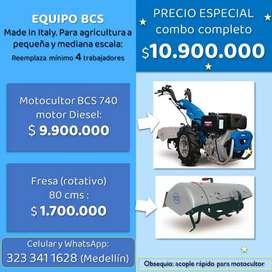 Gran promoción  motocultor agrícola + implemento