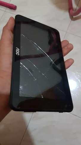 Tablet AOC dañada, para reparación o repuestos
