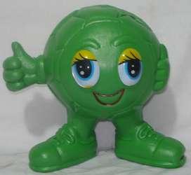 Alcancía Plástica Balón NIJOS con ojos de colores x 3 unidades