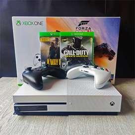 Xbox ONE S + 2 controles + 2 juegos