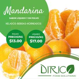 Sabor líquido y polvo mandarina