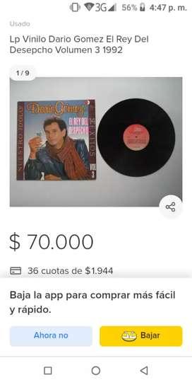 Vinilos-Discos de Darío Gómez y los legendarios