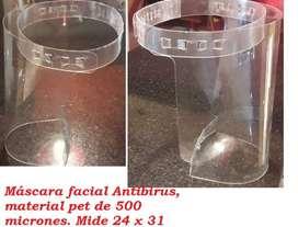 Máscara facial antivirus lavable Pet 500 micrones