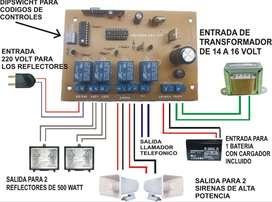 Kit alarmas vecinales,placas AV