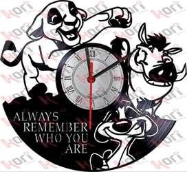 Reloj en vinilo LP rey leon/ vinyl clock lion king