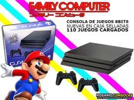 CONSOLA FAMILY GAME NUEVAS COMPLETAS 110 JUEGOS  CLASICOS CARGADOS