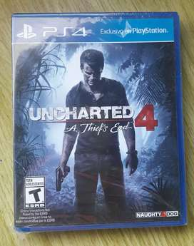 JUEGO DE PS4 UNCHARTED 4 ATHIEFS ENDun ORIGINAL