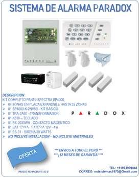 Kit Alarma Paradox SP4000
