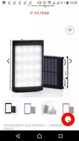 Powerbank Solar + Linterna LED