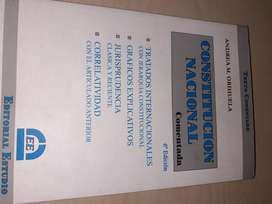 Constitucion nacional comentada 6a edición. Andrea Orihuela