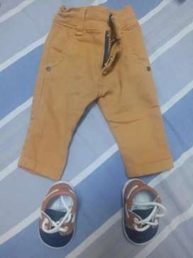 Vendo jean de bebé y zapatos