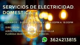 servicios de elctricidad domestica