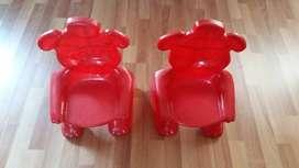 SILLITAS PLASTICAS espaldar de oso