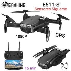 Drone E511s Gps Camara 1080p Wifi 16 Min Sígueme Sensores estable2020