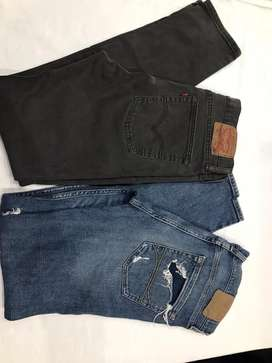 Jeans Levis  y Hollister talle 44