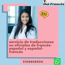 Traducciones no oficiales francés-español y español-francés
