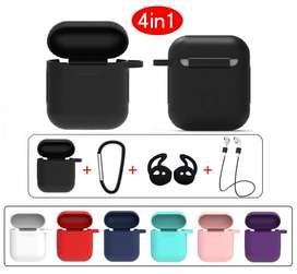 Case estuche funda protector para AirPods Apple - Kit 4 en 1