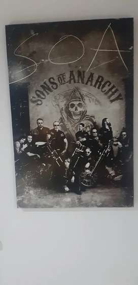 Sons of Anarchy poster enmarcado